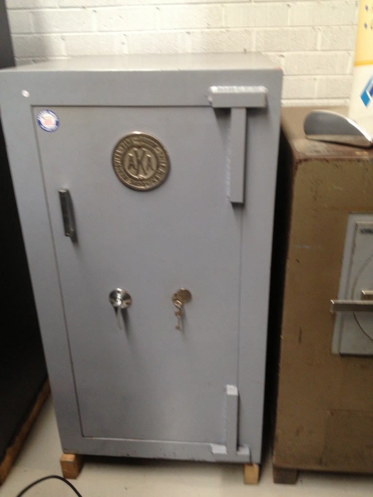 Used key operated safe