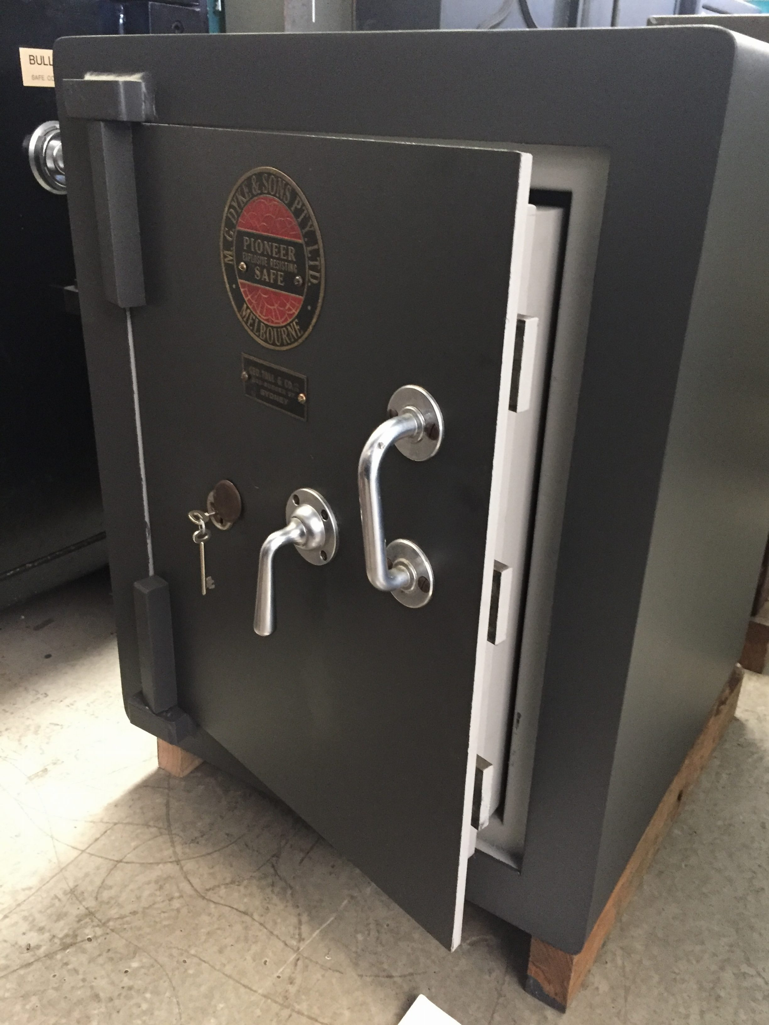 Pioneer key operated security safe