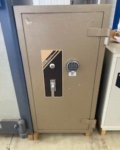 Used CMI FP3 fire resistant filing cabinet safe