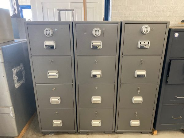 LOCKTECK 4 DRAW FIRE RESISTANT FILING CABINETS
